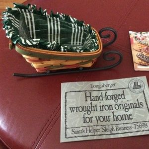 Longaberger Santa's Little Helper Sleigh Basket